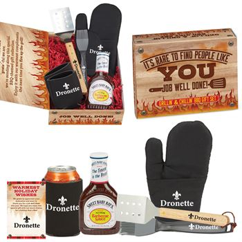 Grillin' & Chillin' BBQ Holiday Care Kit - Personalization Available