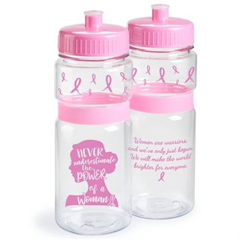 Never Underestimate The Power Of A Woman Pink Water Bottle 20-oz.