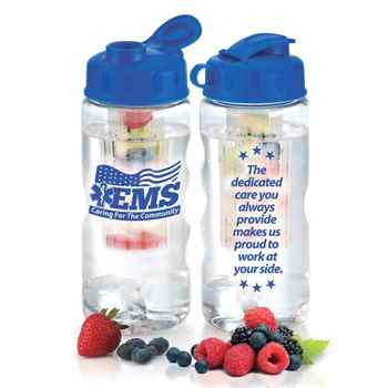 EMS: Caring For The Community Fruit Infuser Water Bottle 22-Oz.