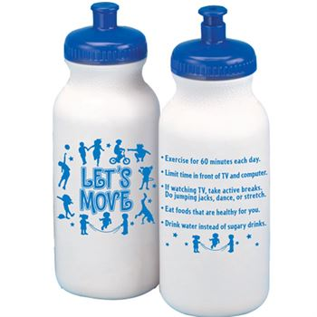 Let's Move! Water Bottle 20-oz.