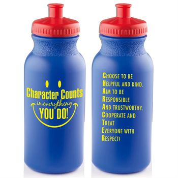 Character Counts In Everything You Do! Water Bottle 20-oz.