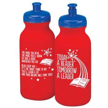 Today A Reader, Tomorrow A Leader Water Bottle 20-Oz. - Pack of 10