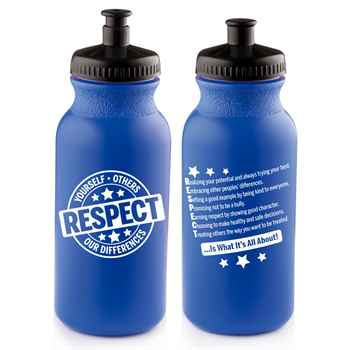 Respect Yourself, Others, Our Differences Water Bottle 20-Oz.