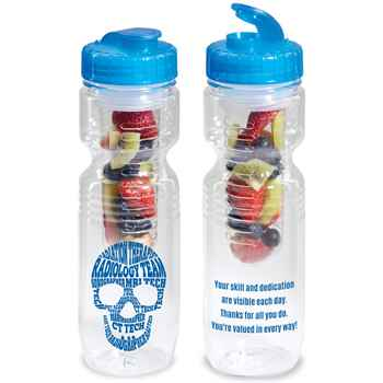 Radiology Team Skull Word Cloud Jogger Bottle 26-Oz. with Flip-Top Lid & Infuser
