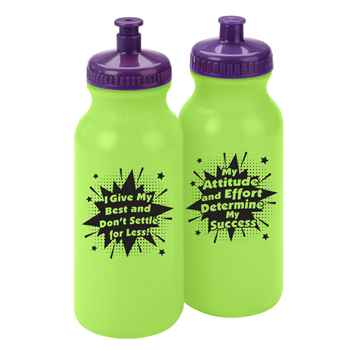 My Attitude And Effort Determine My Success Water Bottle 20-Oz. - Pack of 10