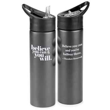 Believe You Can & You Will Essex Stainless Steel Water Bottle 25-Oz.