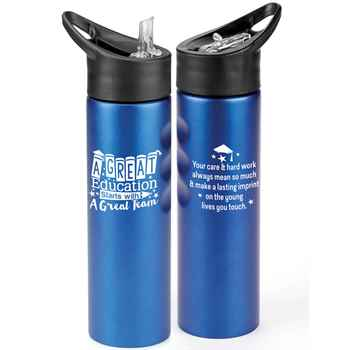 A Great Education Starts With A Great Team Essex Stainless Steel Water Bottle 25-Oz.
