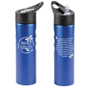 Making A Difference Today, Tomorrow & Always, It's What I Do Essex Stainless Steel Water Bottle 25-Oz.