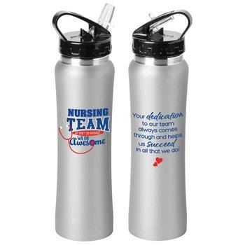 Nursing Team We Don't Do Average We Do Awesome Lakewood Stainless Steel Water Bottle 25-Oz.