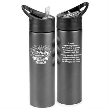 Activity Professionals: Inspire, Engage, Enrich Essex Stainless Steel Water Bottle 25-Oz.