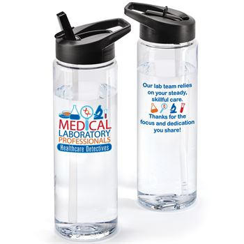 Medical Laboratory Professionals Healthcare Detectives Solara Water Bottle 24-Oz.