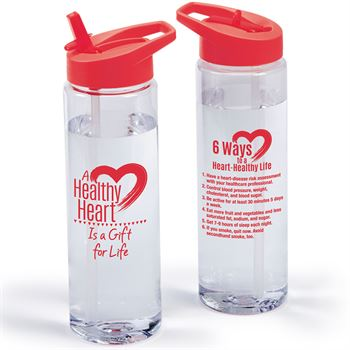 A Health Heart Is A Gift Of Life Solara Water Bottle 24-Oz.