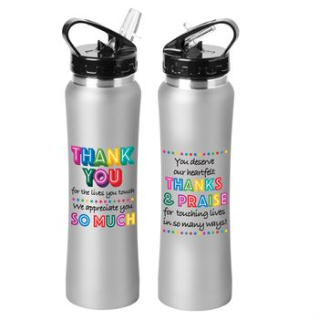 Thank You For The Lives You Touch, We Appreciate You So Much Lakewood Stainless Steel Water Bottle 25-Oz.