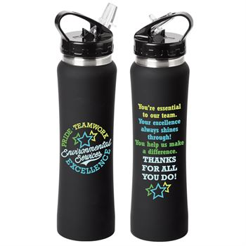 Environmental Services: Pride, Teamwork, Excellence Lakewood Stainless Steel Water Bottle 25-Oz.