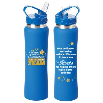 Guest Services Team: We Strive For Excellence Lakewood Stainless Steel Water Bottle 25-Oz.