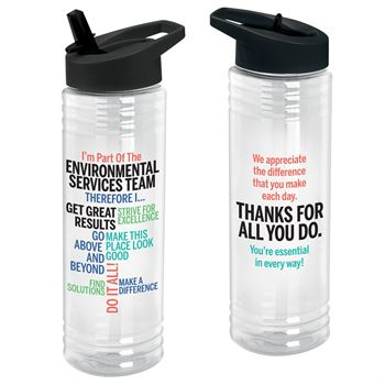I'm Part Of The Environmental Services Team Therefore I... Solara Water Bottle 24-Oz.