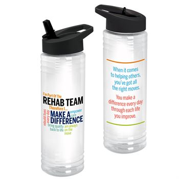 I'm Part Of The Rehab Team Therefore I... Solara Water Bottle 24-Oz.