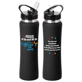 Proud Of The Work We Do & The Difference We Make Lakewood Stainless Steel Water Bottle 25-Oz.
