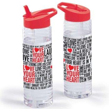 Love Your Heart Word Cloud Solara Water Bottle 24-Oz.