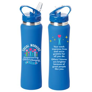 Social Workers: Empowering Others Changing Lives Lakewood Stainless Steel Water Bottle 25-Oz.