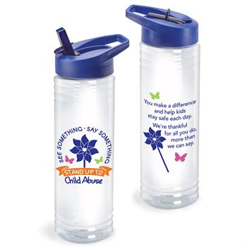 See Something. Say Something. Stand Up To Child Abuse Solara Water Bottle