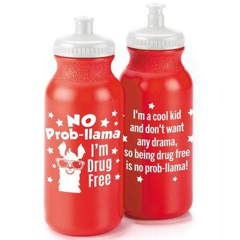 No Prob-llama: I'm Drug Free Water Bottle 20-Oz. - Pack of 10