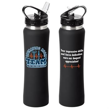 Operating Room Team: Finely Tuned, Fiercely Dedicated Lakewood Stainless Steel Water Bottle 25-Oz.