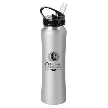 Gray Lakewood Stainless Steel Water Bottle 25-Oz. - Personalization Available