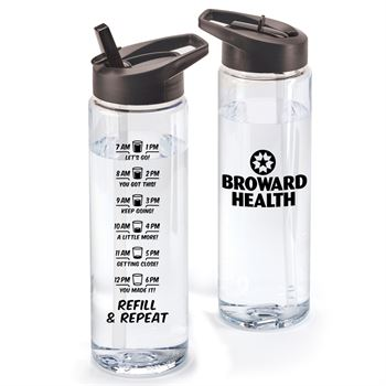 Refill & Repeat Solara Hydration Wellness Water Bottle 24 Oz. - Personalization Available