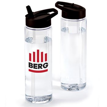 Solara Water Bottle 24-Oz. With Black Lid - Full Color Personalization Available