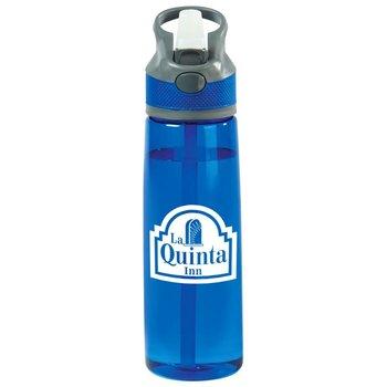 Wellness Tritan™ Blue Water Bottle 28-Oz. - Personalization Available