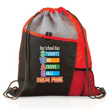 Our School Has SWAG Drug Free Drawstring Backpack