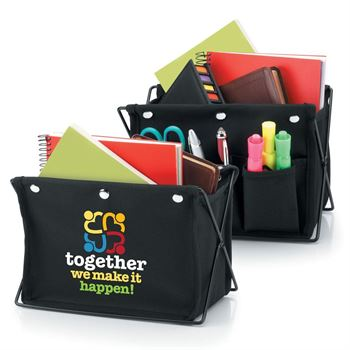 Together We Make It Happen! Fabric Desktop Caddy