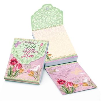 Women Of Faith Bloom With God's Love Magnetic Sticky Notepad