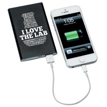 I Love The Lab Slim Metal Phone & Tablet Power Bank
