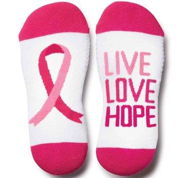 Live, Love, Hope Women's Cushioned Ankle Socks
