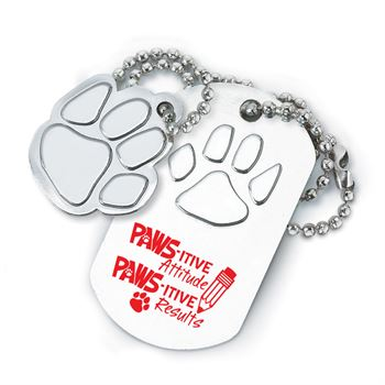 PAWS-itive Attitudes PAWS-itive Results Dog Tag With Charm