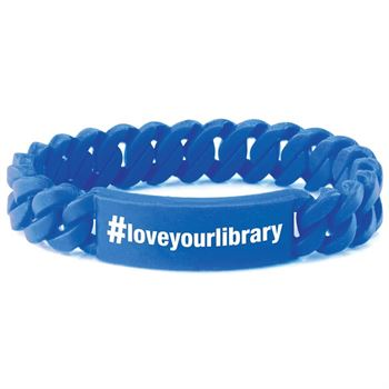 #Loveyourlibrary Silicone Link Bracelet