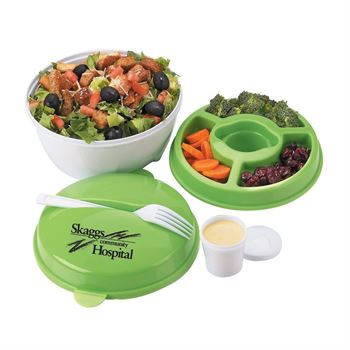 Round Food Container With Compartments