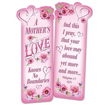 A Mother's Love Knows No Boundaries Deluxe Die-Cut Bookmarks