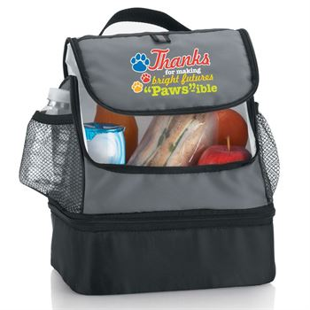 Thanks For Making Bright Futures Paws-ible Bayport Dual Compartment Lunch Bag