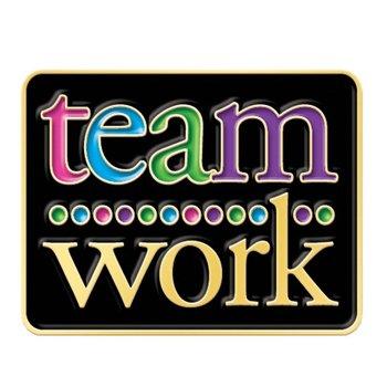 Teamwork Lapel Pin With Presentation Card
