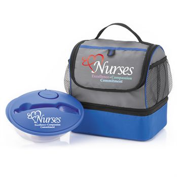 Nurses Excellence Compassion Commitment Bayport Lunch Bag & On-The-Go Food Container Combo