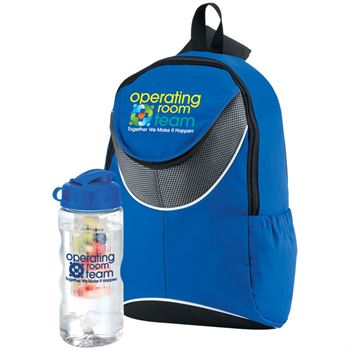 Operating Room Team Together We Make It Happen Sling Backpack & Fruit Infuser Water Bottle Combo