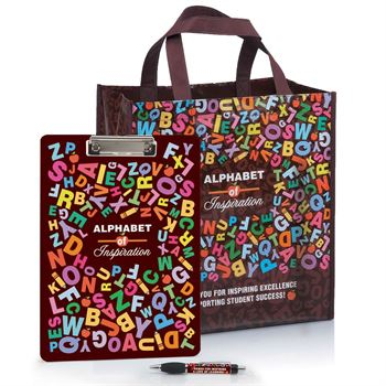 Alphabet Of Inspiration Clipboard/FC Pen & Tote Combo