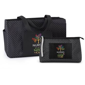 Nurses: It's In Our Nature To Care Lynbrook Utility Tote & Laurel Lunch Clutch Gift Combo