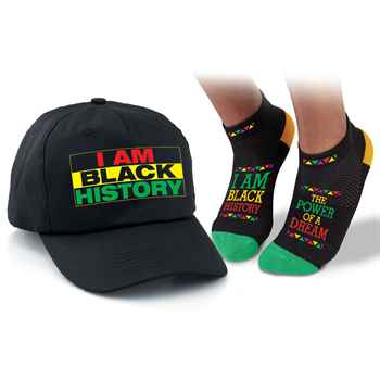 I Am Black History: The Power Of A Dream Baseball Cap & Ankle Socks Set
