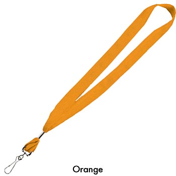 "1"" Cotton Lanyard With Standard Attachment - Personalization Available"