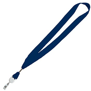 "1"" Cotton Lanyard With Deluxe Attachment - Personalization Available"