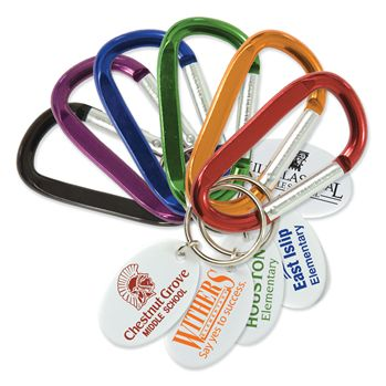 custom Small Carabiner Key Tag
